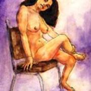Nude Maria in Her Chair Art Print