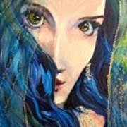 Mariah Blue Art Print