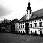 Maribor Square Black And White Art Print