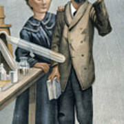 Marie And Pierre Curie Art Print
