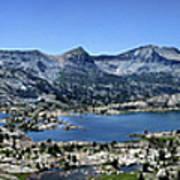 Marie Lake Panorama From High Above - John Muir Trail Art Print