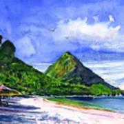 Marigot Bay St Lucia Art Print