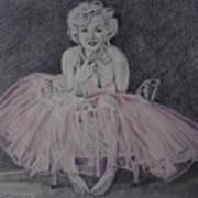 Marilyn In Pink Art Print