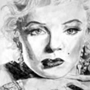 Marilyn In Pose Art Print