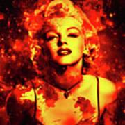 Marilyn Monroe   Golden  Art Print