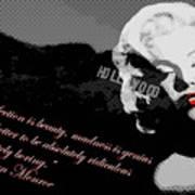 Marilyn Monroe Imperfection Is Beauty Art Print by Brad Scott
