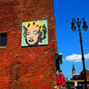 Marilyn Monroe In Detroit Art Print by Guy Ricketts
