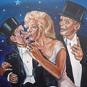 Marilyn Monroe Marries Charlie Mccarthy Art Print