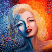 Marilyn Monroe Original Acrylic Palette Knife Painting Art Print
