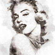Marilyn Monroe Portrait 01 Art Print