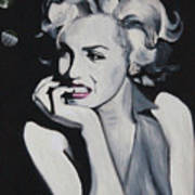 Marilyn Monroe Portrait Art Print by Mikayla Ziegler