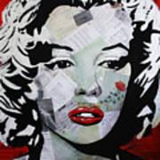 Marilyn Monroe Red Flower Art Print