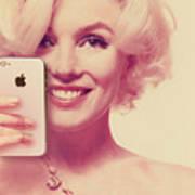 Marilyn Monroe Selfie 1 Art Print
