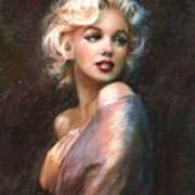 Marilyn Romantic Ww 1 Print by Theo Danella
