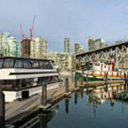 Marina At Granville Island In Vancouver Bc Art Print