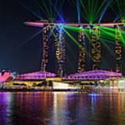 Marina Bay Sands Lasershow Art Print