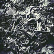 Marine Elemental Abstraction Art Print
