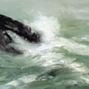 Marine Storm Sea 1911 Art Print