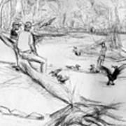 Mariners Musuem Park Art Print