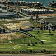 Mariners Point Golf Center In Foster City, California Aerial Photo Art Print
