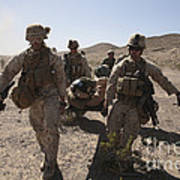 Marines Transport A Simulated Downed Art Print