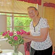 Marion Loves Roses Art Print