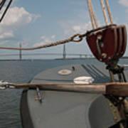 Maritime Bridge View Art Print