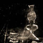 Marjorie Kinnan Rawlings Kerosene  Lamp Art Print