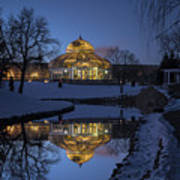 Marjorie Mcneely Conservatory At Dusk Art Print