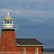 Mark Abbott Memorial Lighthouse California - The World's Oldest Surfing Museum Art Print by Christine Till
