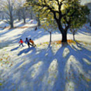 Markeaton Park Early Snow Art Print