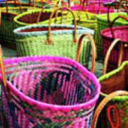 Market Baskets - Libourne Art Print