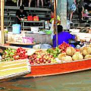 Market In Thailand Art Print