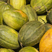 Market Melons Art Print