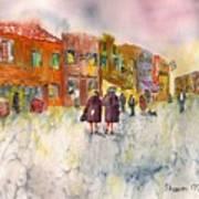 Market Place In Borano Art Print