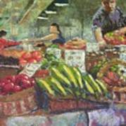 Market Stacker Art Print