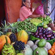 market stall in Nicaragua Art Print