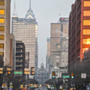 Market Street Philadelphia - In The Morning Art Print