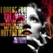 Marlene Dietrich Quote Art Print