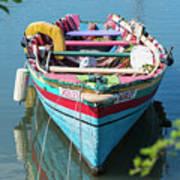 Marley Rowboat Rodney Bay Saint Lucia Art Print