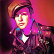 Marlon Brando The Wild One 20160116 Art Print