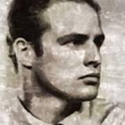 Marlon Brando, Vintage Actor Art Print