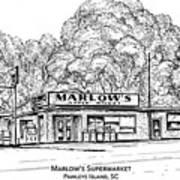 Marlows Market Art Print