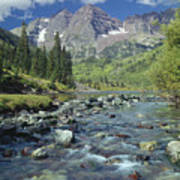 210404-maroon Bells And Creek  Art Print