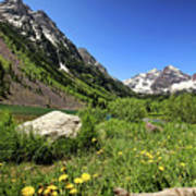 Maroon Bells In Summer 2 Art Print