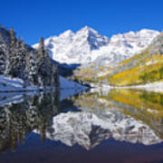 Maroon Lake And Bells 1 Art Print by Ron Dahlquist - Printscapes