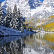 Maroon Lake And Bells 2 Print by Ron Dahlquist - Printscapes