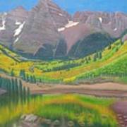 Maroon Lake Art Print