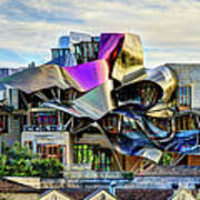 marques de riscal Hotel at sunset - frank gehry Art Print