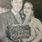 Marriage Portrait Art Print